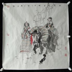 河北省美术家协会会员赵红光国画《早春三月》