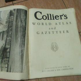 老世界地图 Collier's World Atlas and Gazettee(缺封面封底)