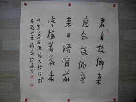 【名家书画】岳飞30世孙岳继承书法《君自故乡来/68*67》