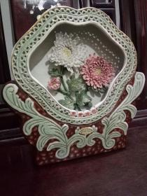 《东篱佳色》-精美出口瓷器摆件    80年代出口创汇时期手工制作的陶瓷大师艺术作品