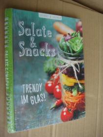 德文原版 菜谱 Salate & Snacks 彩色图文本 精装16开 塑封未拆