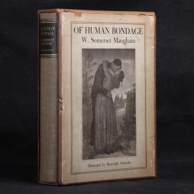 英文原版古董書 1936年 毛姆與插畫師 親筆雙簽名 OF HUMAN BONDAGE (《人性的枷鎖》)首部插圖本
