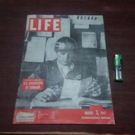原版英文杂志:美国生活周刊(1947年3月3)(民国时期8开老期刊)(LIFE)(封面:关于美国占领德国的报告)