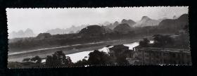 村镇风光写意风景老照片相片一枚六十年代末作品