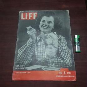原版英文杂志:美国生活周刊(1947年6月9)(民国时期8开老期刊)(LIFE)