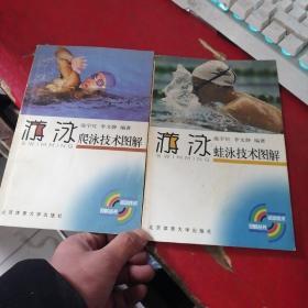游泳蛙泳技术图解 + 游泳爬泳技术图解【2本合售】