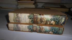 红楼梦(英文版,第1、2卷 共2本合售,刷蓝顶,插图多 精装有涵套,书品好28开)