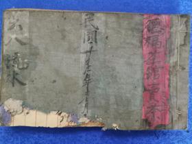 民国的福茶馆 卖茶记录本,宣纸线装,账尺寸长27宽17厚2厘米,内有三分之二的空白页!乃研究民国时期茶文化的重要资料!