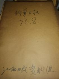 新华日报 1976.6、1976.7、1976.8 3册 230/册
