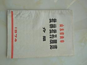 山东省曲阜批林批孔展览介绍 1974年16开