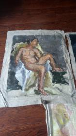 老油画:人物 长117厘米*95厘米,年代不详【 油画24】