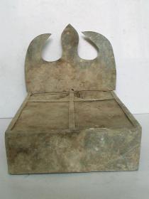 清代;锡制老砚台(藏家、玩家必收藏的佳器;比较罕见)