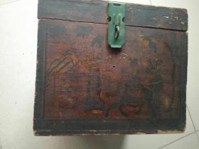 清代麒麟送子木盒
