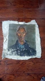 老油画:人物 长75厘米*55厘米,年代不详【 油画20】