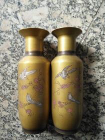 GZ1096精品 铜器花瓶一对