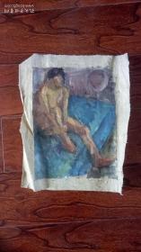 老油画:人物 长48厘米*38厘米,年代不详【 油画21】