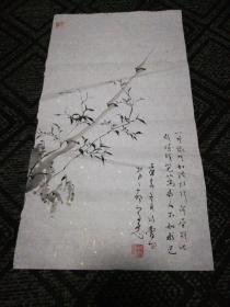 墨竹2:赵孝亮画(44cm*24 Cm)