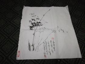 墨竹3:赵孝亮画(48cm*53 Cm)