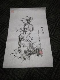 墨竹4:赵孝亮画(49cm*30 Cm)
