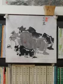 上海著名画家司同 《牛》