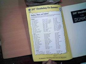 SAT Vocabulary for Dummies    有黄点