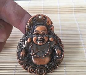 GZ1103复古铜器弥勒佛佛牌