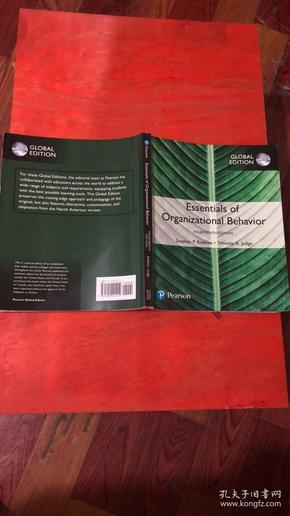 Essemtialas of  organizational bahavior    fourteenth edition  stephen p robbins timothy a judge   书号9781292221410
