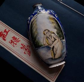 大清 珐琅彩人体艺术 巨型搪瓷鼻烟壶