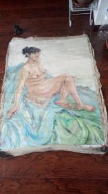 老油画:人物 长120厘米*95厘米,年代不详【 油画29】
