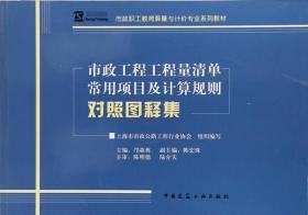 市政工程工程量清单常用项目及计算规则对照图释集(市政职工教育 正版 上海市市政公路工程行业协会  9787112149001
