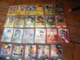 小虎队--七龙珠闪卡22张【含4张魔力卡、1张2星中奖卡85品 没有包装袋】原包装 不重复(图片中魔力卡:气功波。已售)