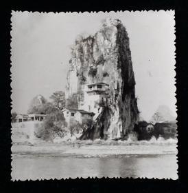 风景老相片照片一枚六十年代末拍摄