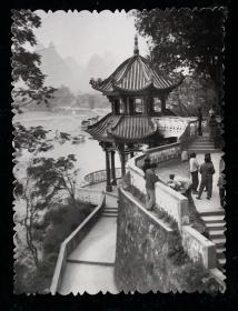 凉亭美景风光相片照片一枚六十年代末