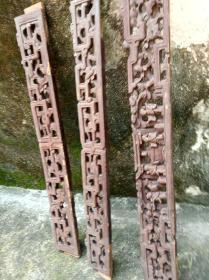 清代潮州木雕三条,有人物题材