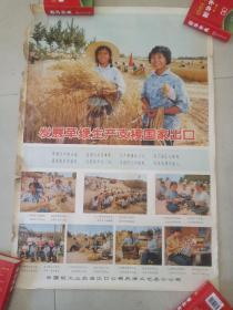 发展草鞭生产支援国家出口(宣传画)