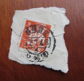 普8面值8分邮票销1958年7月4日福建晋江石狮--邮戳