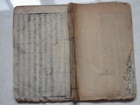 明或清线装古籍:黄帝内经素问 [ 卷一至卷三]