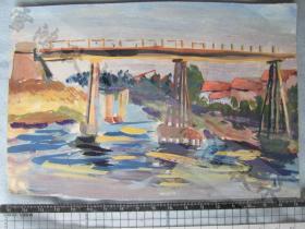 潍坊工艺美术研究所老设计师绘制——水彩画片两张