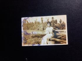 民国原版带衬板老北京照片:美女照片  [4×6.2厘米 5.5×7.5厘米]