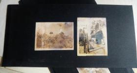 民国原版带衬板老北京照片:双亭 美女  [5.8×7.8厘米 6×7.7厘米]