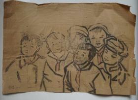 ●名家原始画稿:《著名国画家(谭学楷)速写作品三幅》【1957年—1960年原稿尺寸30X20公分X3幅】!