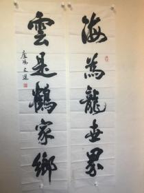 张文选-安徽省书协-海为龙世界,云是鹤家乡