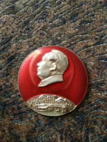 毛主席像章,参观毛主席旧居韶山畄念。