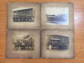 【民國2】1928年日本某建筑(應該是學校)落成紀念合影四張,大幅