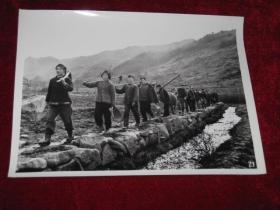 大批知识青年下乡上山,在陕西省大巴山区开垦荒山、建立黎坪山垦殖场   照片长20厘米宽15厘米    A箱