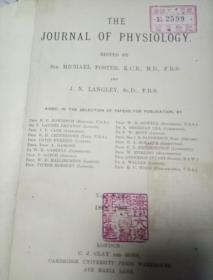 南满洲时期大连医院馆藏外文医学史料the journal of physiology 1899-1900