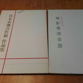 谷本素洲书作展 作品集 琴影书道会展第25回记念两册