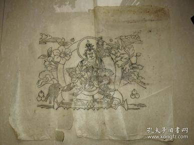清代 西藏 木板曼荼罗画  一幅(57*48厘米)  二
