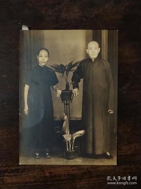 民国老照片——旗袍妇人和长衫男人