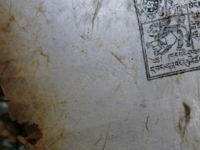 清代 西藏 木板曼荼罗画  一幅